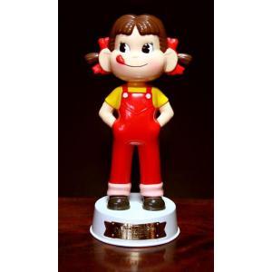 不二家 ペコ60周年記念 ペコちゃん首ふり人形 白い台座 懸賞当選品|yojigon