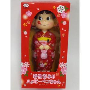 不二家 着物首振りハッピーペコちゃん人形(赤い着物)|yojigon
