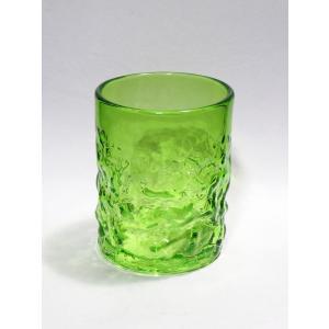 琉球ガラス でこぼこグラス(大)  緑|yojigon