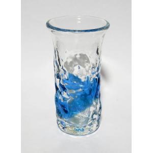 琉球ガラス でこぼこ一口ビアグラス  水 yojigon