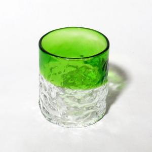 琉球ガラス でこぼこグラス(小)  緑|yojigon