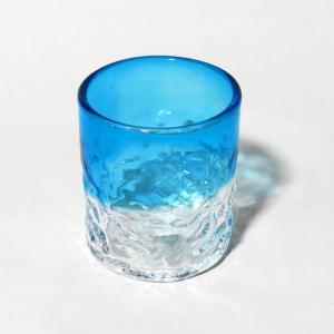 琉球ガラス でこぼこグラス(小)  水 yojigon