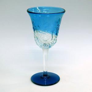 琉球ガラス でこぼこワイングラス  水|yojigon