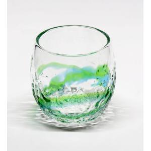 琉球ガラス でこぼこたる型グラス  水緑|yojigon