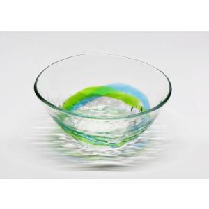 琉球ガラス でこ小鉢  水緑|yojigon