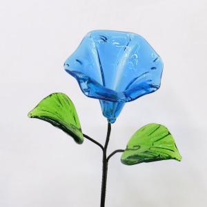 琉球ガラス あさがお  水色|yojigon