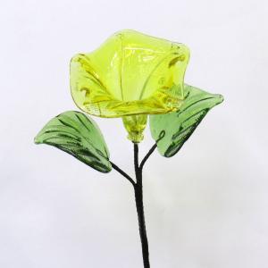 琉球ガラス あさがお  黄色|yojigon