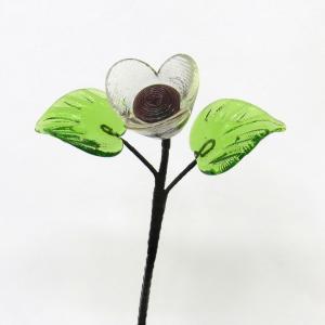 琉球ガラス ミニバラ  アメ色|yojigon
