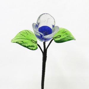 琉球ガラス ミニバラ  青色|yojigon