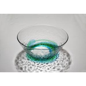 琉球ガラス でこぼこ大鉢  水緑|yojigon