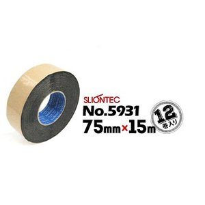 マクセル スーパーブチルテープ スリオンテック No.5931 75mm×15m 12巻 板金用 外壁材仮止め防水用 防水用 yojo