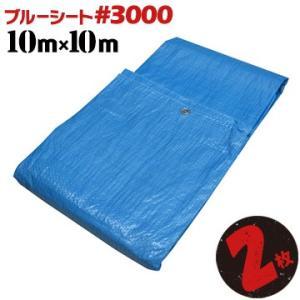 ブルーシート #3000 厚手 10.0x10.0m 2枚 輸入品 yojo