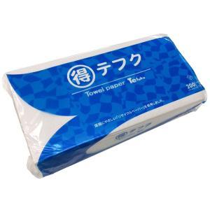 タオルペーパー まる得テフク 200枚  220×225mm レギュラー 60個セット   紙ウエス 油汚れ ペーパータオル 油取 紙タオル 使い捨て|yojo