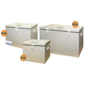 関東冷熱工業 クーラーボックス KRクールBOX-S ガルバリウム鋼板 60L 電源不要で節電対策に効果的、保冷材のみで長時間10℃以下をキープ!|yojo