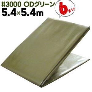 萩原工業 HAGIHARA #3000 ターピーODグリーンシート 5.4m×5.4m 6枚 山間部、緑地帯使用に適した景観保護シート ターピーシート|yojo
