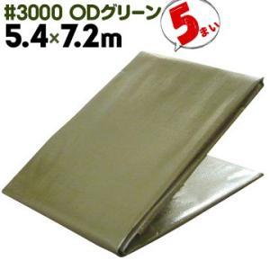 萩原工業 HAGIHARA #3000 ターピーODグリーンシート 5.4m×7.2m 5枚 山間部、緑地帯使用に適した景観保護シート ターピーシート|yojo