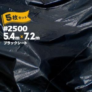 ブラックシート #2500 BLACK 5.4m×7.2m 5枚   建築資材 工事 現場 用品 仮設 養生 保護 防炎|yojo