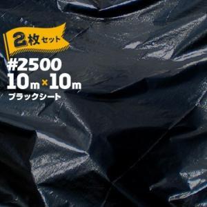 ブラックシート #2500 BLACK 10m×10m 2枚   建築資材 工事 現場 用品 仮設 養生 保護 防炎|yojo