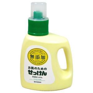 ミヨシ石鹸 無添加 お肌のための洗濯用液体せっけん 1.2L|yoka1