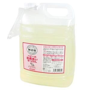 ミヨシ石鹸 無添加 ベビーの肌着洗いせっけん 業務用5L ノズル付き詰替用