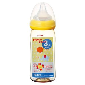 ピジョン 母乳実感 哺乳びん(プラスチック製 アニマル柄) 240ml