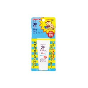 ピジョン UVベビーミルク ウォータープルーフ SPF50 PA+++ 日焼け止めクリーム 顔・からだ用 20g|yoka1