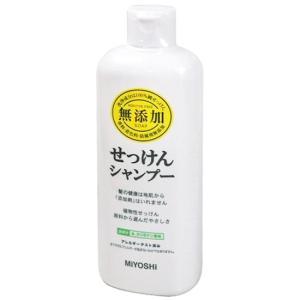 ミヨシ石鹸 無添加 せっけんシャンプー 350mL|yoka1