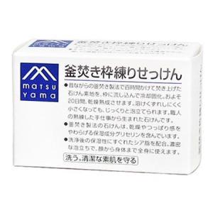松山油脂 Mマーク 釜焚き枠練りせっけん 140g|yoka1