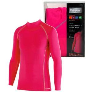 おたふく手袋 BTパワーストレッチハイネックシャツ BOXタイプ フリー(ピンク)|yoka1