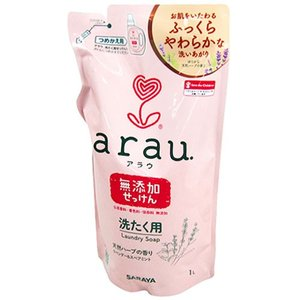 アラウ 洗濯用せっけん 液体 詰替用1L サラヤ arau. yoka1