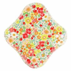 fuwako 幸せの布ナプキン ライナー ブロード花赤 地の塩社|yoka1