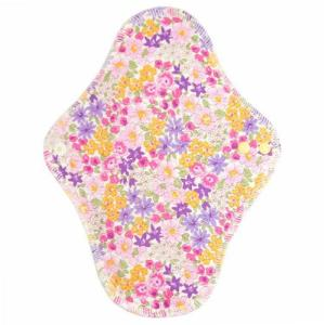 fuwako 幸せの布ナプキン 昼用 ブロード花紫 地の塩社|yoka1