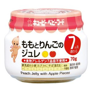 キユーピーベビーフード ももとりんごのジュレ 瓶詰70g  7ヵ月頃から 離乳食|yoka1