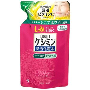 小林製薬 薬用 ケシミン浸透化粧水 さっぱりすべすべ肌 つめかえ用 140ml|yoka1
