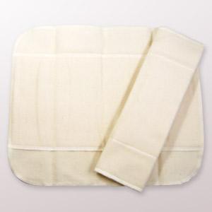 布ナプキン 白うさぎ Lサイズ 4つ折り|yoka1