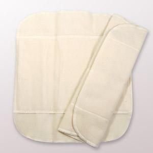 布ナプキン 白うさぎ Mサイズ 3つ折り|yoka1