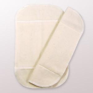 布ナプキン 白うさぎ Sサイズ 2つ折り|yoka1