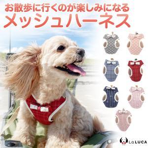 ハーネス リード セット 小型犬 猫 LaLUCA ステップハーネス ウェアハーネス 犬猫兼用 首輪...