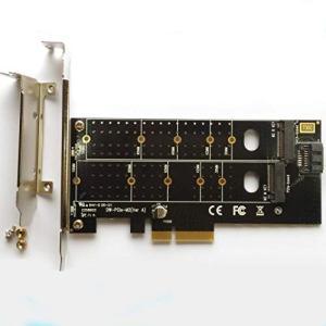 M.2 NVMe PCle SSD ‐ PCle 3.0 x 4 M Key &B Key 変換 アダプタ カード SATA [並行輸入品] yokamonshouten