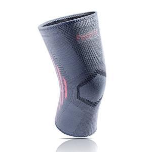 【膝サポーター】ナイロン65%・ゴム25%・ポリウレタン10%生地で、吸汗性にも優れ、伸縮性にも優れ...