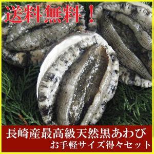 ギフト 長崎崎産天然黒あわび(最高級品) 食べやすいサイズの黒アワビ(鮑)得々セット yokasakana