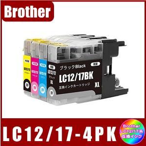 LC12-4PK (LC12BK/LC12C/LC12M/LC12Y) ブラザー BROTHER  LC12対応  互換インク 4色セット 4本|yokimise