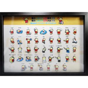 福井国体 競技別 はぴりゅう ピンバッジ 全42種類 メモリアルセット|yoko-buri