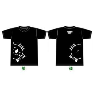 いきいき茨城ゆめ国体大会 いばラッキー Tシャツ モノクロ|yoko-buri