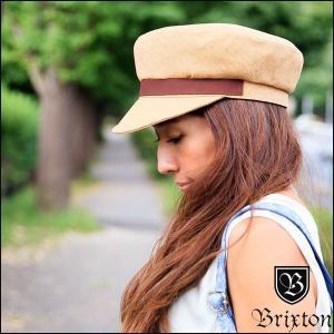 キャスケット レディース 帽子 麦わら ストロー キャップ おしゃれ ブランド ブリクストン マリンキャップ 大きいサイズ ブラウン|yoko-nori