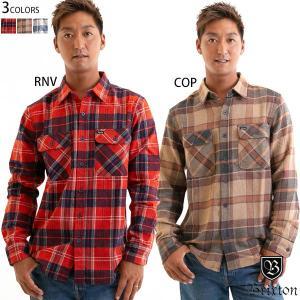 Brixton ブリクストン L/Sシャツ BOWERY フランネル 厚手 チェック ネルシャツ メンズ 長袖|yoko-nori