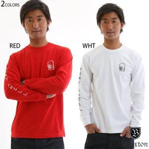 ブリクストン tシャツ 長袖 ロンt brixton おしゃれ ブランド 袖 プリント 赤|yoko-nori