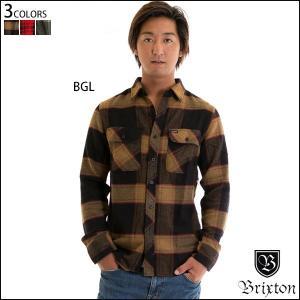 Brixton ブリクストン メンズ 長袖シャツ BOWERY L/S FLANNEL フランネル チェック ネルシャツ 正規販売店|yoko-nori