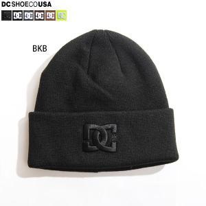 DC ビーニー ニット帽 メンズ ブランド 帽子 ブラック|yoko-nori