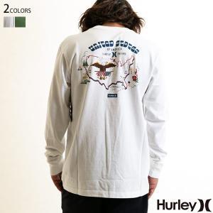 Hurley ハーレー ロンT メンズ 長袖 L/S Tシャツ KITTY TEE LS 和柄 yoko-nori